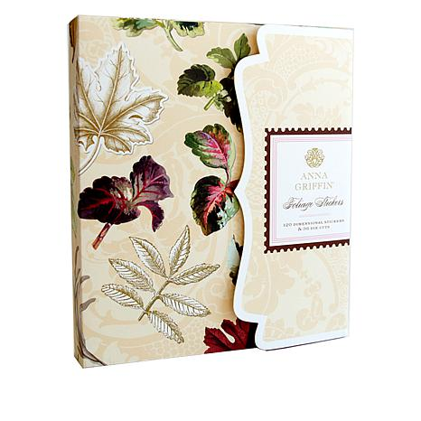 Anna Griffin® 3D and Flat Foil Foliage Stickers with Storage Folio
