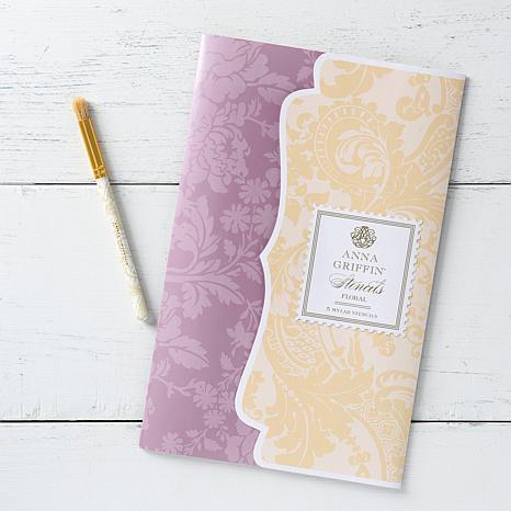 Anna Griffin® 5-piece Floral Stencil Kit