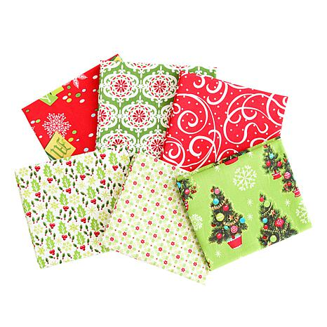 Anna Griffin® Christmas Kitsch Red Fat Quarters 6-piece