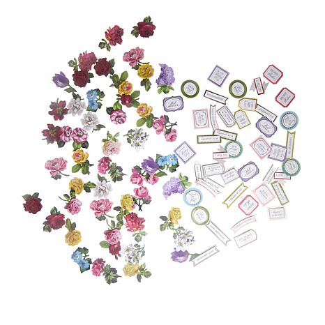 Anna Griffin® Mini Flower and Sentiment Stickers 120-piece