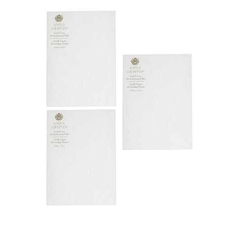 Anna Griffin® Tooled Leather 3D Embossing Folders 3-piece Set