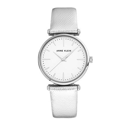 Anne Klein Silvertone Metallic Strap Watch