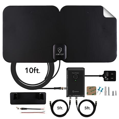 exclusive! ANTOP AT-300SBS 70-mile TV Antenna with AirTV Streaming Media  Player