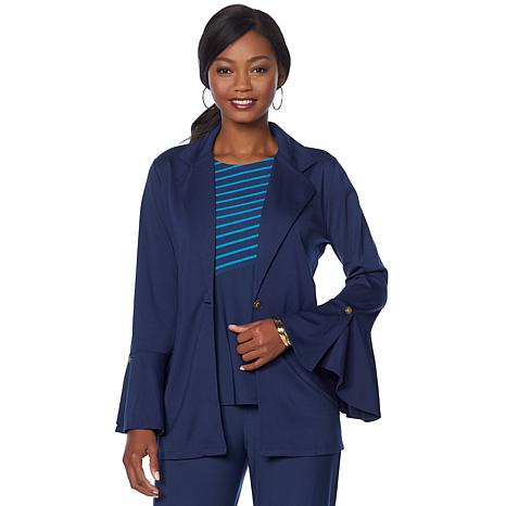 Antthony 2-piece Flounce-Sleeve Jacket and Tank Set