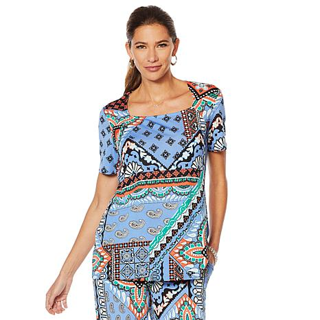 "Antthony ""Culturally Styled"" Printed Short-Sleeve Top"