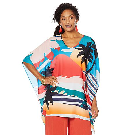 "Antthony ""Electric Color"" Print Caftan"