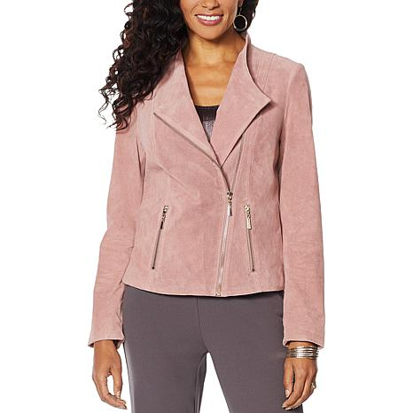 """Antthony """"Glorious Gifts For Her"""" Suede Moto Jacket"""