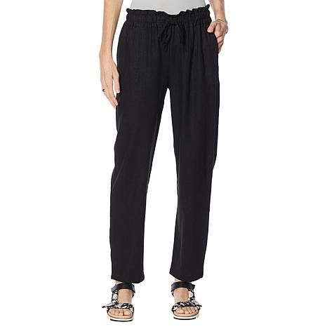 Antthony Linen-Blend Pull-On Tapered Pant