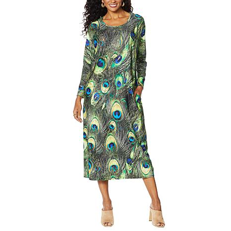 Antthony Luscious Knit Printed Loungewear Dress and Headband