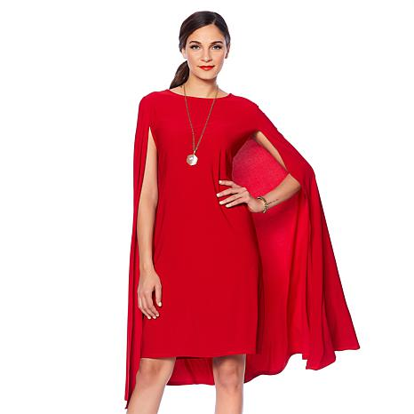 "Antthony ""Signature Classic"" Cape Sheath Dress"