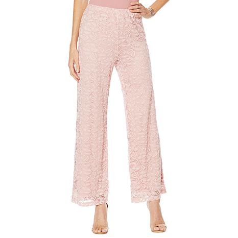 """Antthony """"Silver Jubilee"""" Lace Overlay Palazzo Pant"""