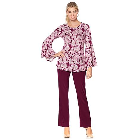 """Antthony """"Winter Romance"""" Bell-Sleeve Top and Pant Set"""