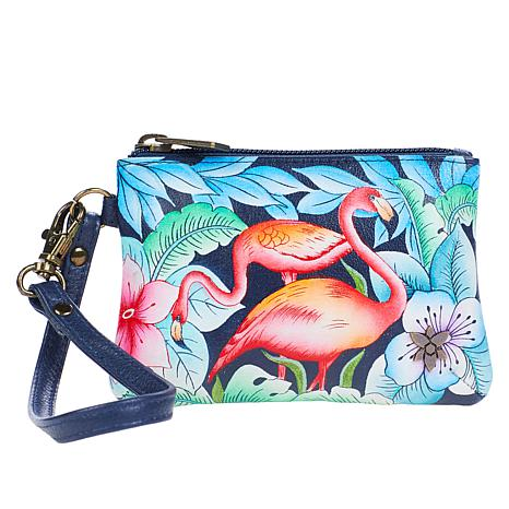 Anuschka Hand-Painted Leather Convertible Wristlet