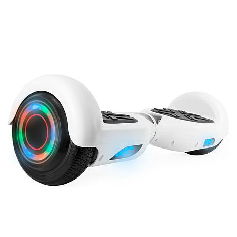 AOB Hoverboard with Bluetooth Speakers - White