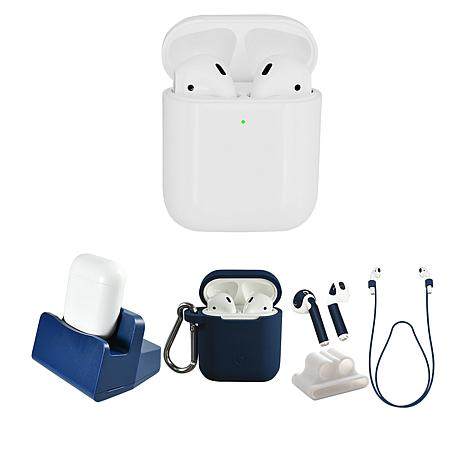 63dea1f2894 Apple AirPods 2nd Gen. Earbuds & Wireless Charging Case w/Accessories -  9097733 | HSN