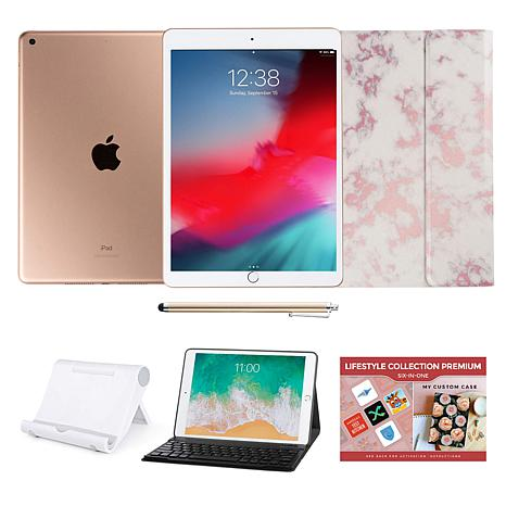 "Apple iPad® 10.2"" Gold 32GB with Custom Case and Bluetooth Keyboard"