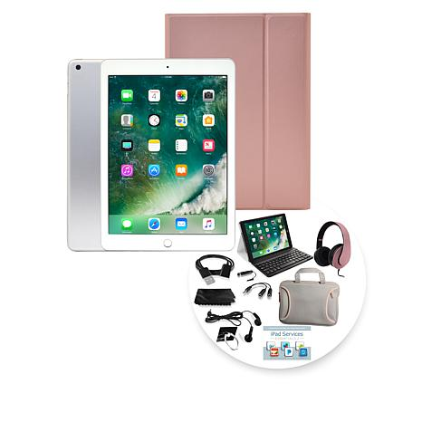 Apple iPad® 32GB Tablet w/Keyboard Case & Headphones - Silver