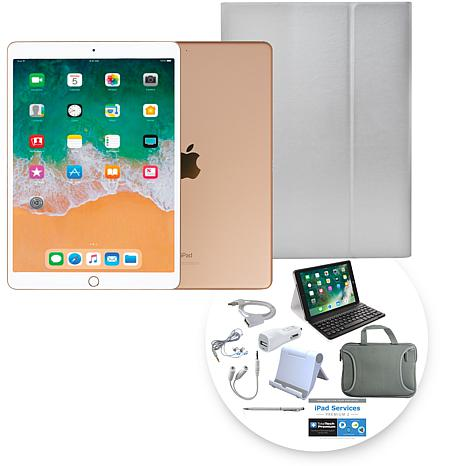 """Apple iPad Air® 10.5"""" 64GB Gold Tablet with Keyboard Case"""