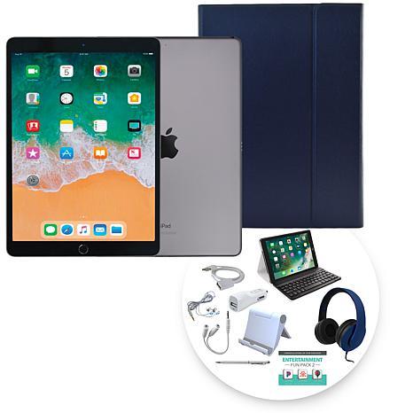 """Apple iPad Air 10.5"""" 64GB Tablet w/Bluetooth Keyboard & Accessories"""