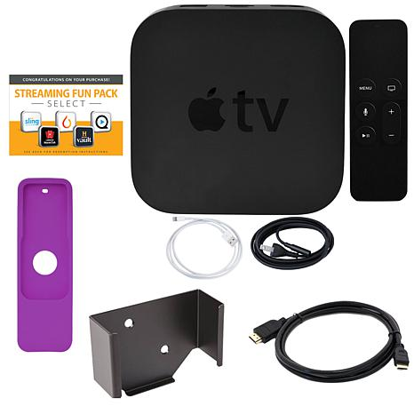 Apple TV 4K 2017 32GB with Siri Remote, Sleeve, HDMI Cable & Software