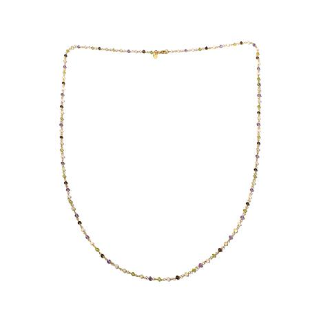 "Argento Vivo Multigem Beaded Chain 36"" Necklace"