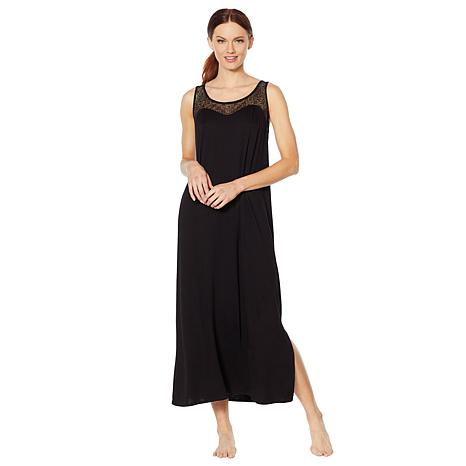 Aria Soft Touch Jersey Solid Long Gown