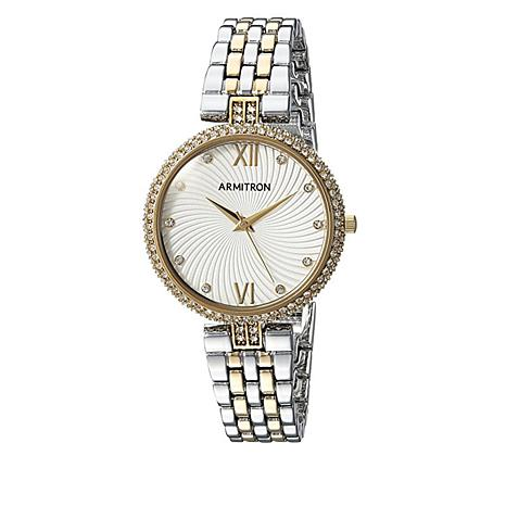 Armitron Women's 2-tone Crystal Bezel Bracelet Watch