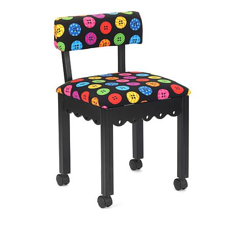 Arrow Cabinets Riley Blake Sewing Chair with Button Print