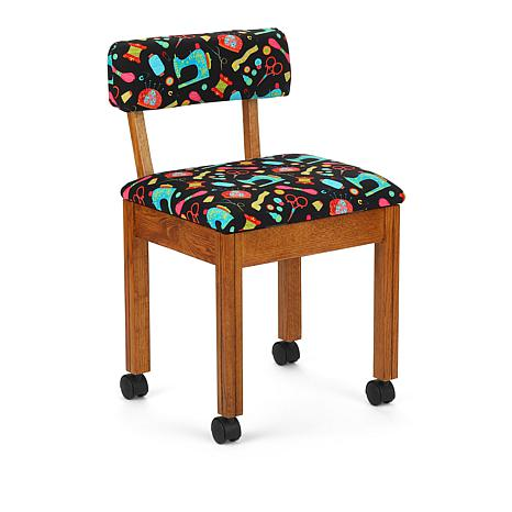 Arrow Cabinets Riley Blake Sewing Chair with Sewing Tool Print