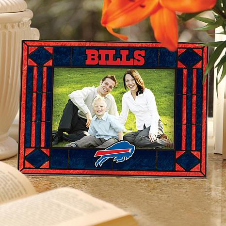Art Glass Horizontal Photo Frame - Buffalo Bills