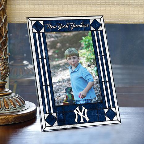 Art Glass Team Photo Frame - New York Yankees - MLB