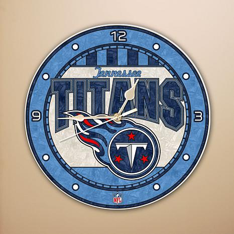 Art Glass Wall Clock - Tennessee Titans
