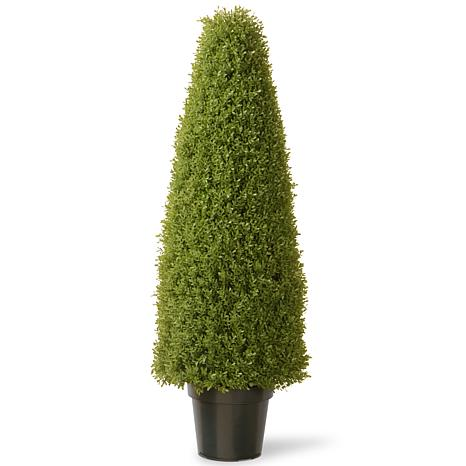 """Artificial 48"""" Boxwood Tree in Green Growers Pot"""