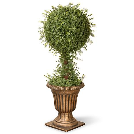 "Artificial Topiary Tree 36"" Mini Tea Leaf"