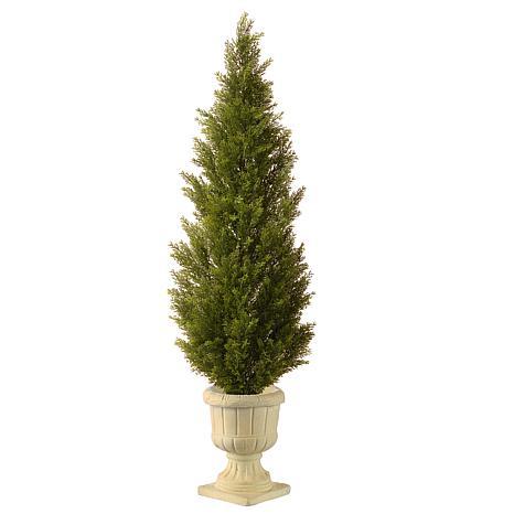 "Artificial Topiary Tree 60"" Arborvitae in Urn"