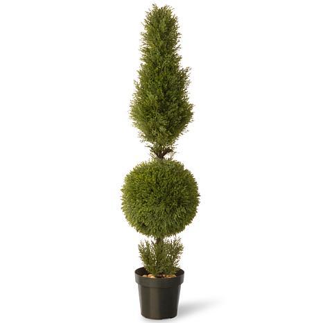 """Artificial Topiary Tree 60"""" Juniper Cone & Ball in Pot"""