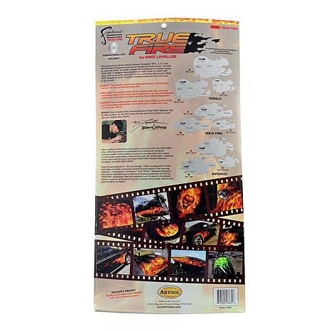 Artool Freehand True Fire Template Set 9-pack with DVD