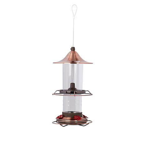 """As Is"" Belmont Garden 2-in-1 Bird and Hummingbird Feeder"