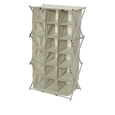 """As Is"" Black + Decker® 18 Compartment Collapsing Shoe Cubby"
