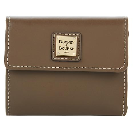 """As Is"" Dooney & Bourke Leather Beacon Flap Wallet"
