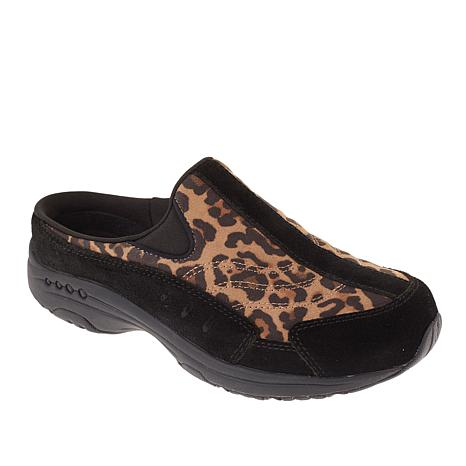 """As Is"" easy spirit Traveltime Leopard-Print Clog"