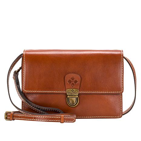 """As Is"" Patricia Nash Lanza Leather Crossbody Bag"