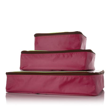 """""""As Is"""" Samantha Brown Microfiber Packing Cube 3-piece Set"""