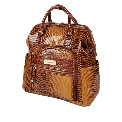 """""""As Is"""" Samantha Brown Ombre Croco Backpack"""
