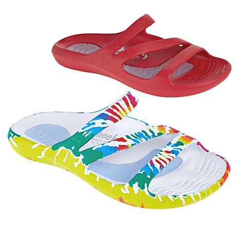 """As Is"" Tony Little Cheeks® 2-pack Slide Health Sandal"