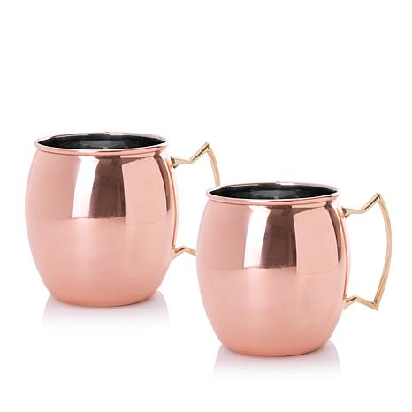 asobu® Moscow Mule Set of 2 Copper Plated Mugs