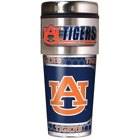 Auburn Tigers Travel Tumbler w/ Metallic Graphics and Team Logo