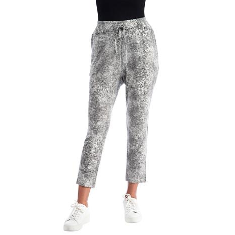 B Collection by Bobeau Brushed Knit Printed Crop Pant