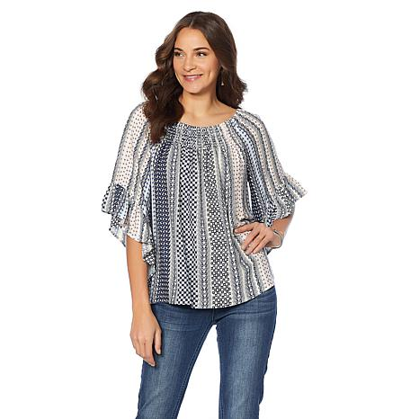 B Collection by Bobeau Off-the-Shoulder Boho Top - Plus