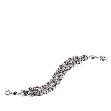 Bali Designs 2.24ctw Rhodolite Layered Bracelet